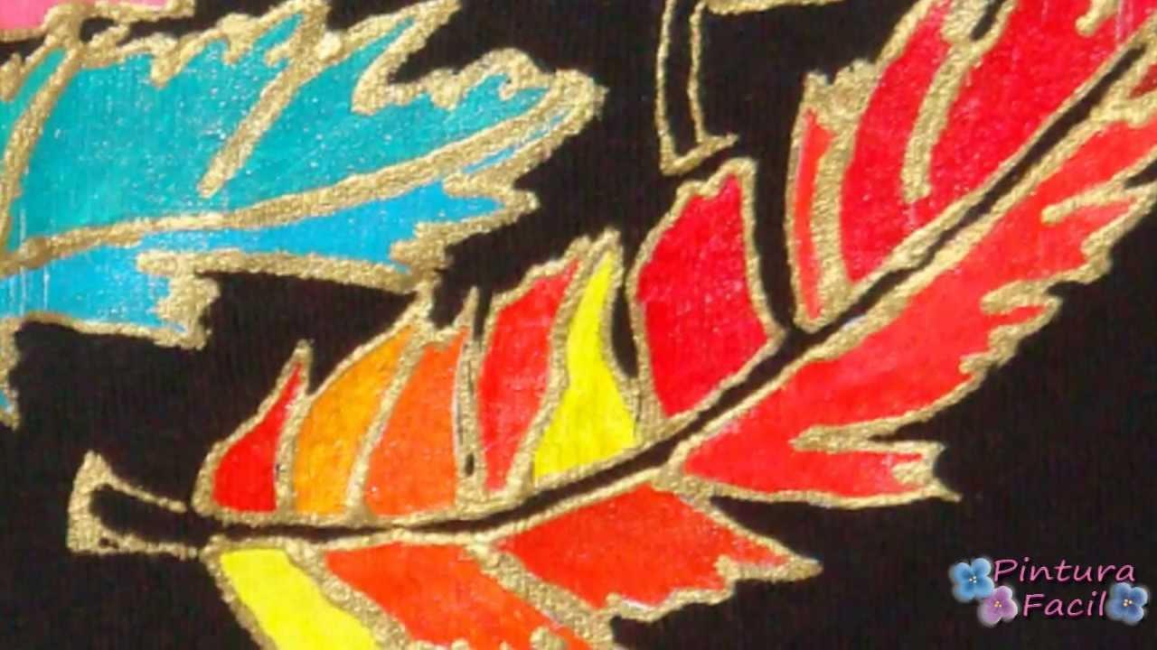 Pintura en tela plumas y plantillas cloth paint pintar - Pinturas para pintar camisetas ...
