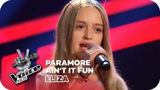 Paramore - Ain't It Fun (Eliza) | Blind Auditions | The Voice Kids 2018 | SAT.1
