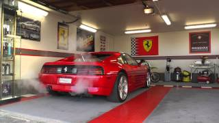 Fire up my Ferrari 348 after the winter. This sound is the art of music