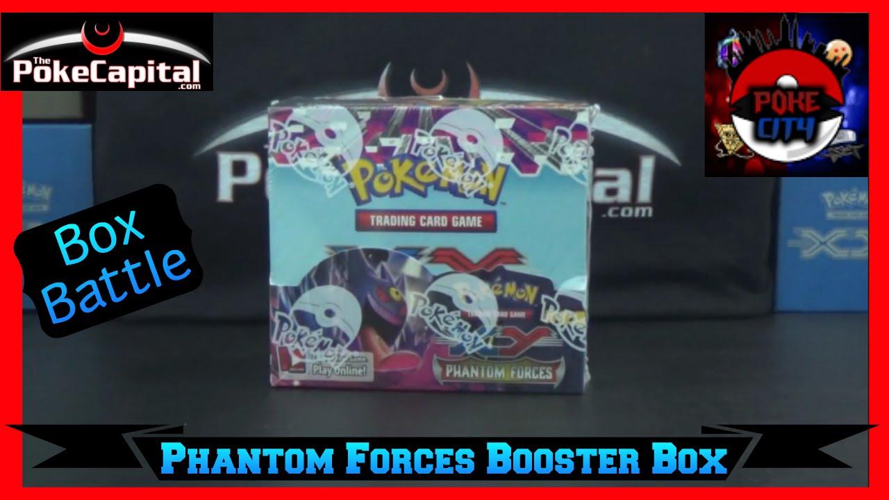 Pokemon xy phantom forces booster box opening battle vs poke city