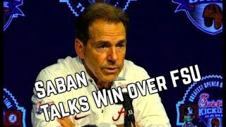 Nick Saban's Post Game Press Conference Following FSU