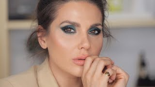 DARK EYE MAKEUP AND SOFT PEACHY LIPS | ALI ANDREEA