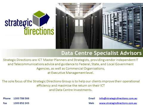 Strategic Directions ICT Disaster Recovery Data Centre CIO