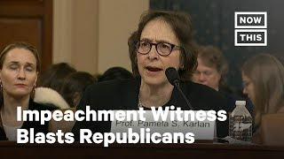 Impeachment Witness Tears Into Republicans | NowThis
