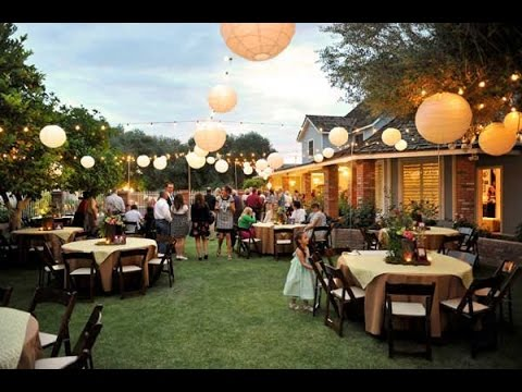 Backyard Wedding Ideas Youtube