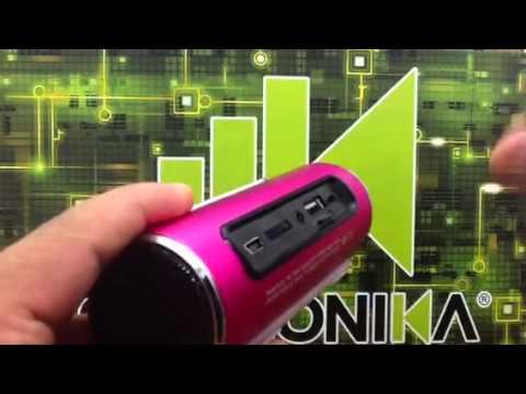 BOCINA PORTATIL RECARGABLE RADIO FM MP3 USB MICROSD AUXILIAR