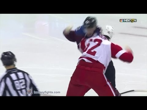 Jonathan Ericsson vs Nathan MacKinnon Feb 5, 2015