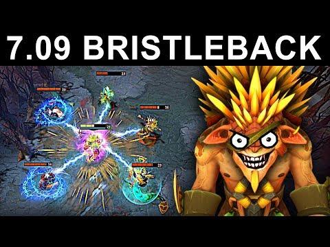 AMAZING BRISTLEBACK PATCH 7.09 DOTA 2 NEW META GAMEPLAY #31 (gattu BRISTLEBACK)