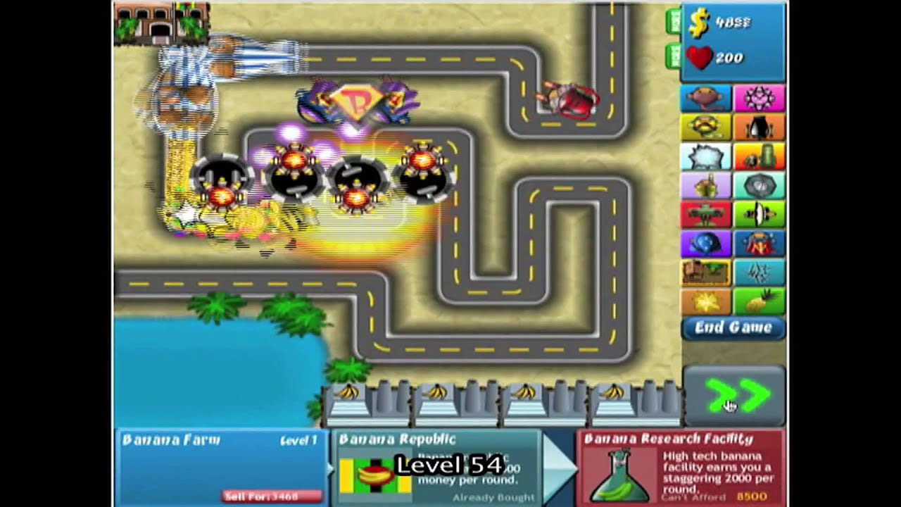 Bloons Tower Defense 4 - Track 1 - Easy - Level 1-132 *NO MISSES ...