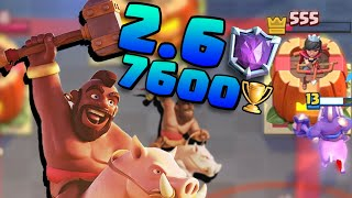 2.6! Pushing at 7600 in Clash Royale