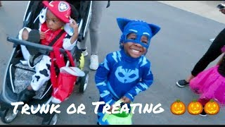Trunk or Treating with Pj Mask Vloggy Vlog!!