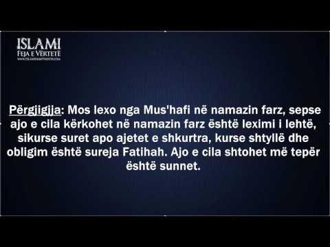 Mbajtja e Mus'hafit gjatë namazit – Shejh Feuzan