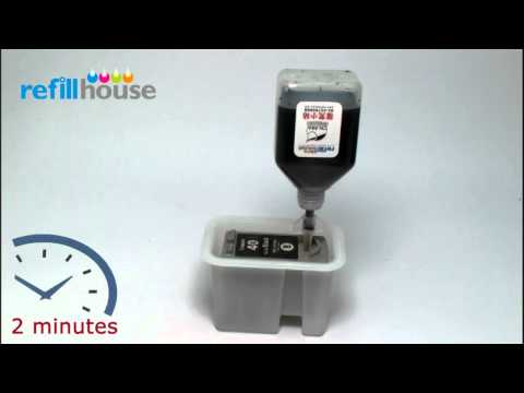 How to refill Canon PG-40, PG-50 Inkjet Cartridge - Auto-Refill System