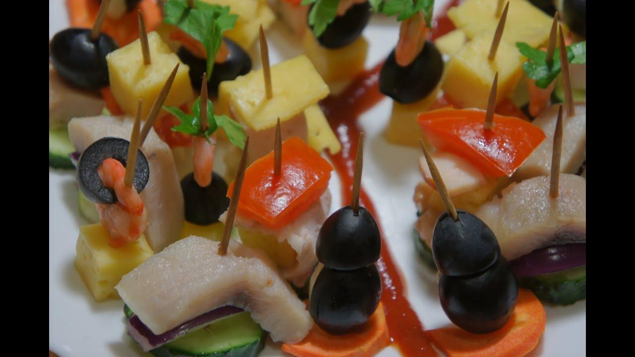 Рецепты канапе простые и вкусные на шпажках в домашних условиях