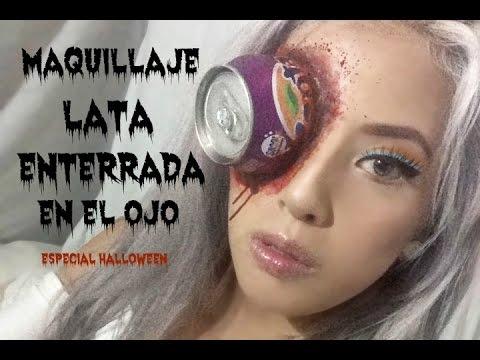 Maquillaje lata enterrada en el ojo HALLOWEEN