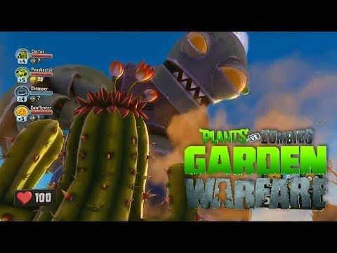 PLANTAS VS ZOMBIES: GARDEN WARFARE | Co-op Gameplay | Peashooter & Sunflower (XBOX ONE Gameplay)