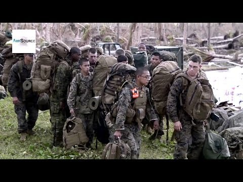 U.S. Marines in Guiuan, Philippines. Operation Damayan, Typhoon Haiyan/Yolanda.