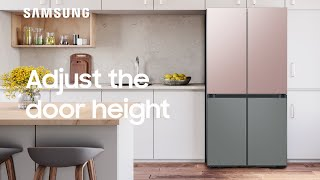 01. How to adjust the fridge and freezer door height on your BESPOKE Refrigerator | Samsung US