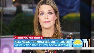 Savannah Guthrie On Matt Lauer's Firing
