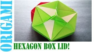 Origami Daily - 452: Hexagon Box Lid Ver 9. (modular 3 Unit) - Tcgames [hd]
