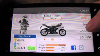 Drag Racing Bike Edition Tune: Level 8: 4.929 sec 1/8 mile