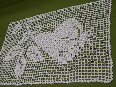 Pera Tejida para Mantel o Cortina Crochet parte 1 de 3