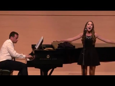 Cristina Oeschger with Andrew Lippa Another WorldA Little Princess @TXST University 2015