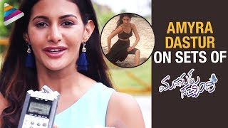 Amyra Dastur on Sets of Manasuku Nachindi | Sundeep Kishan | Manjula | 2018 Latest Telugu Movies