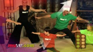 Easy dance exercise for kids fitness and family holiday fun.