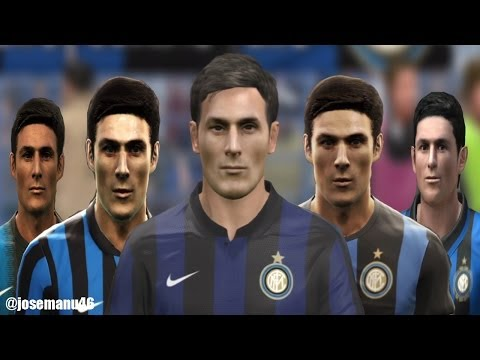 Javier ZANETTI from PES 3 to PES 2014 (FACE Evolution)