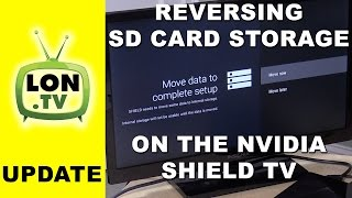 Nvidia Shield TV Update - How to Reverse Internal Storage on an SD Card or USB Drive