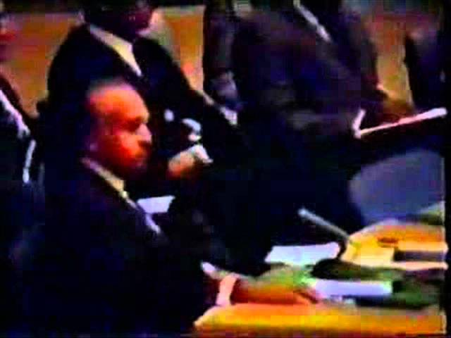 Zulfikar Ali Bhutto Speech in emergency session of Security Council Part 1of 2  (22-09-1965).wmv