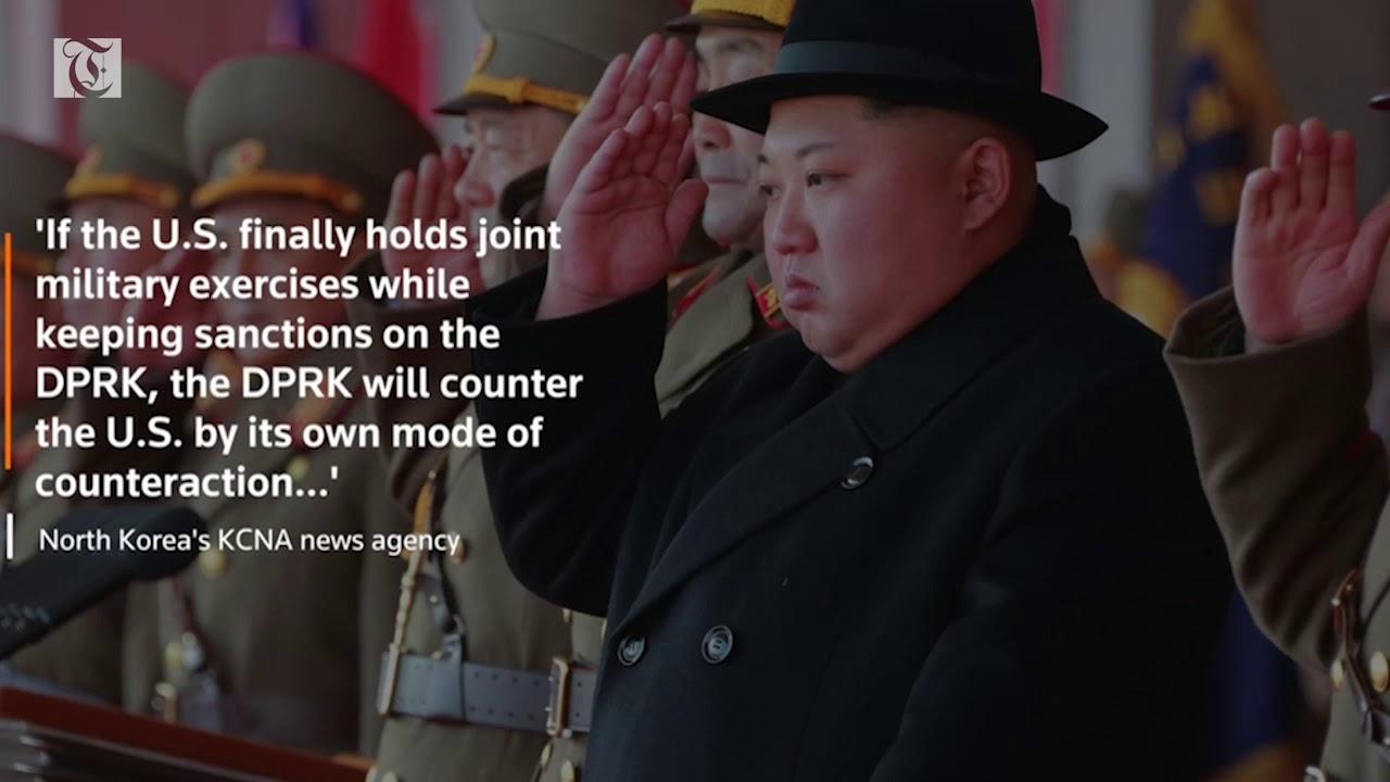 North Korea threatens to 'counter' U S  over military drills