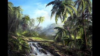 Palm Tree Paradise - Tropical Painting