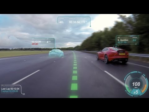 Jaguar Virtual Windscreen - Improvement performance driving