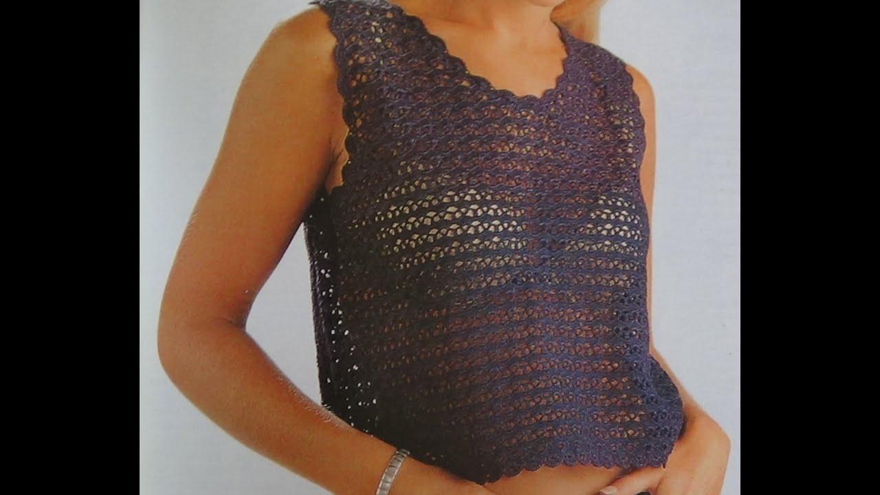 Como hacer blusa a crochet puntada conchas youtube - Como hacer conchas finas ...
