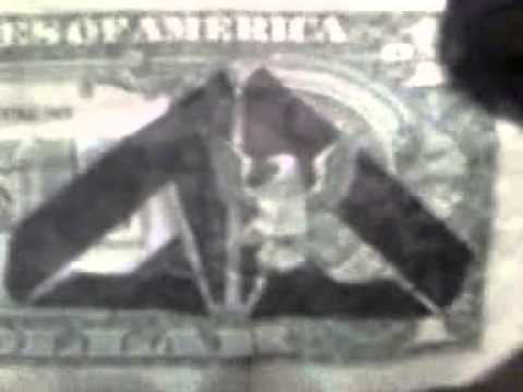 Illuminati printing found on U.S. one dollar bill!