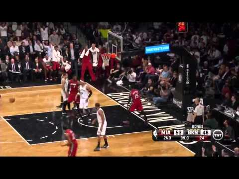 NBA, playoff 2014, Heat vs. Nets, Round 2, Game 4, Move 32, Mario Chalmers, dunk