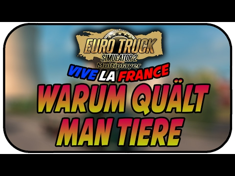 WARUM QUÄLT MAN TIERE!? - EURO TRUCK SIMULATOR ; VIVE LA FRANCE DLC #037 ★ ETS 2 Gameplay Deutsch