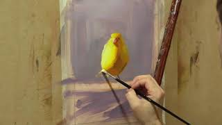Oil painting techniques - How to paint birds in oils