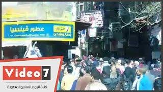لحظة هروب إخوان المطرية فور وصول قوات الأمن