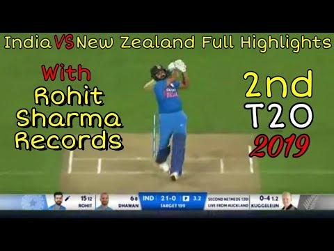 India vs New Zealand 2019 Highlights 2nd t20   full highlights   Rohit Sharma records