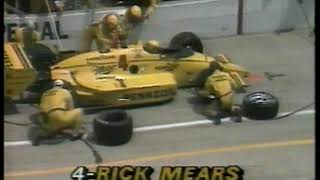 Auto Racing   1986   ABC Sports Indy 500 Special Feature   Leader Rick Mears 14 Second Pit Stop At 1