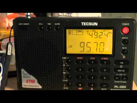 China Radio on Tecsun PL 380 DSP receiver