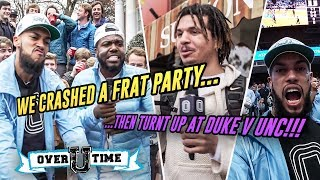 Sneaking Into The DUKE VS UNC GAME! Frat Houses, Bars, Cole Anthony & More 😂