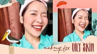 Thử makeup KIỀM DẦU bình dân mùa hè | NEW DRUGSTORE MAKEUP FOR OILY SKIN | Letsplaymakeup