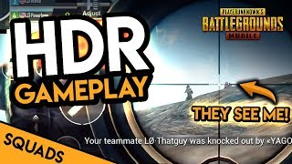 TRYING TO SNIPE WITH HDR GRAPHICS - PUBG Mobile Squads