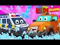 🔴 Car Wash Videos | Car Cartoons For Children | Street Vehicles by Kids Channel