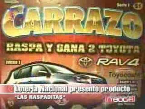 Lotería Nacional presentó producto Las Raspaditas