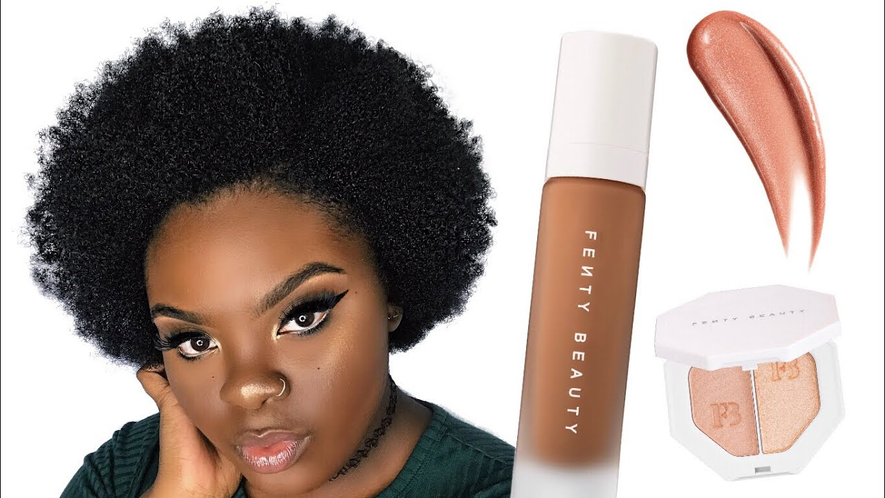 EVERYDAY MAKEUP FOR DARKSKIN | FENTY BEAUTY BY RIHANNA FIRST IMPRESSIONS | JOYNAVON
